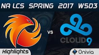 p1 vs c9 highlights game 1 na lcs spring 2017 w5d3 phoenix1 vs cloud9