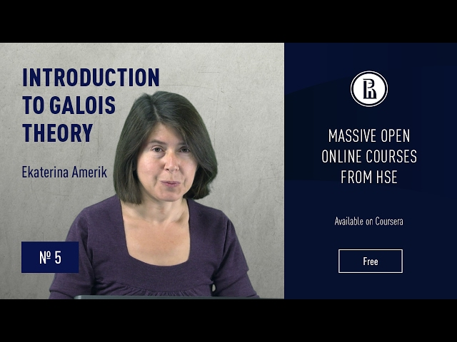 Introduction to Galois Theory: Algebraic elements. Minimal polynomial #3