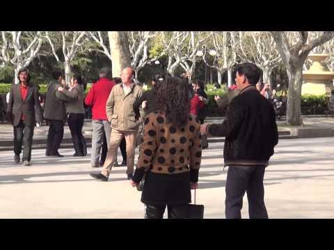 Romantic Dancing in Shanghai Park