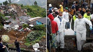Сход оползня на город Манисалес  десятки погибших и раненых