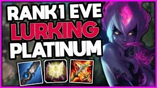 #1 Evelynn World vs Platinum HYPER CARRY [16 /1 /6] - League of Legends
