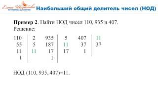 Наибольший Общий Делитель Как найти НОДЕлена Ширшова180