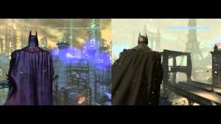 Repeat youtube video Batman Arkham City vs Arkham Origins - Gotham City comparison