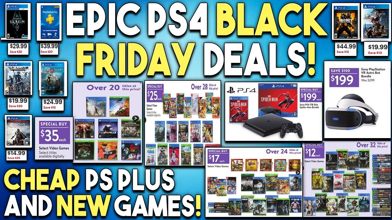 EPIC PS4 Black Friday Deals REVEALED for NEW Games - CHEAP PS+ and MORE!