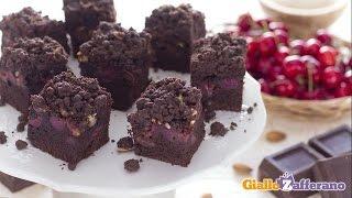 Chocolate Cherry Crumb Cake - Recipe