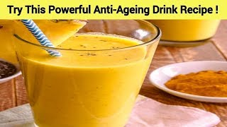 Try This Powerful Anti-Ageing Drink Recipe !