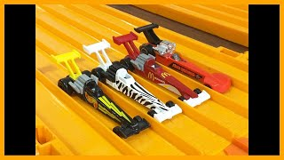 4 X Top Fuel Dragsters Drag Race! - Hot Wheels