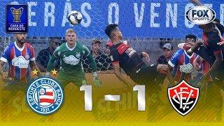 Melhores momentos de Bahia 1 x 1 Vitória pela Copa do Nordeste