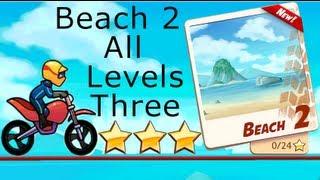 Bike Race - Beach 2 - 3 Stars ★★★ - Levels 1-8 Normal Bike Walkthrough