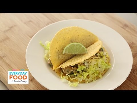 Tacos with Tangy Cilantro Chicken | Everyday Food with Sarah Carey ...