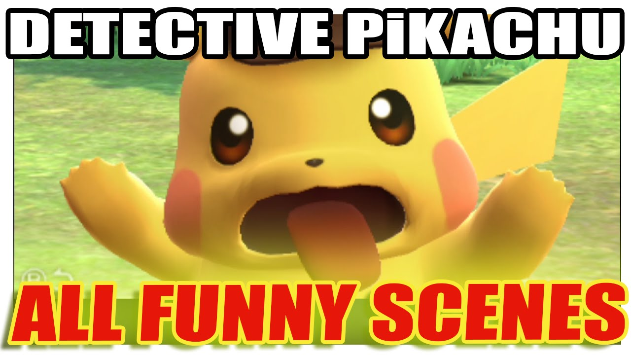 detective pikachu all funny