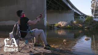 Fishing the L.A. River during COVID-19
