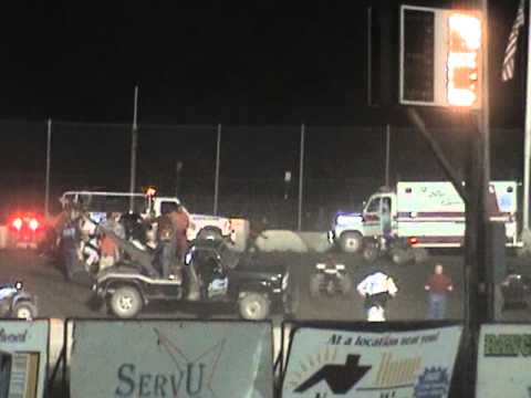 Tony Stewart Sprint Car Crash/Flip/Roll at Black Rock Speedway in Dundee, NY (#14) @ 2'21