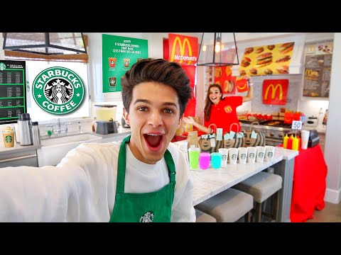 WE OPENED A FOOD COURT IN MY HOUSE!! - Brent Rivera
