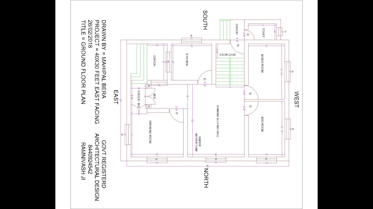 28x38 house plans. best 30 x 40 east facing house plans  YouTube