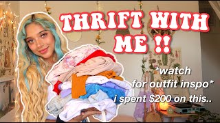 THRIFT WITH ME!! + *SUPER cute summer clothing haul*