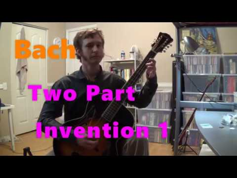 Bach- Two Part Invention No. 1 on Mandocello