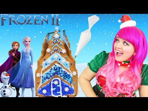 decorating-frozen-2-gingerbread-ice-castle-|-diy-holiday-cookie-house-kit-|-kimmi-the-clown