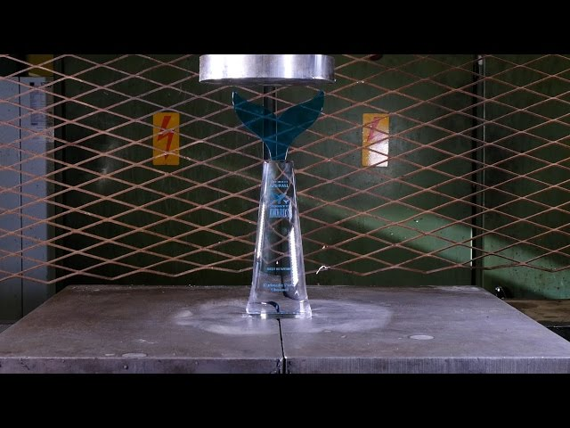 Crushing Shorty Award with Hydraulic Press