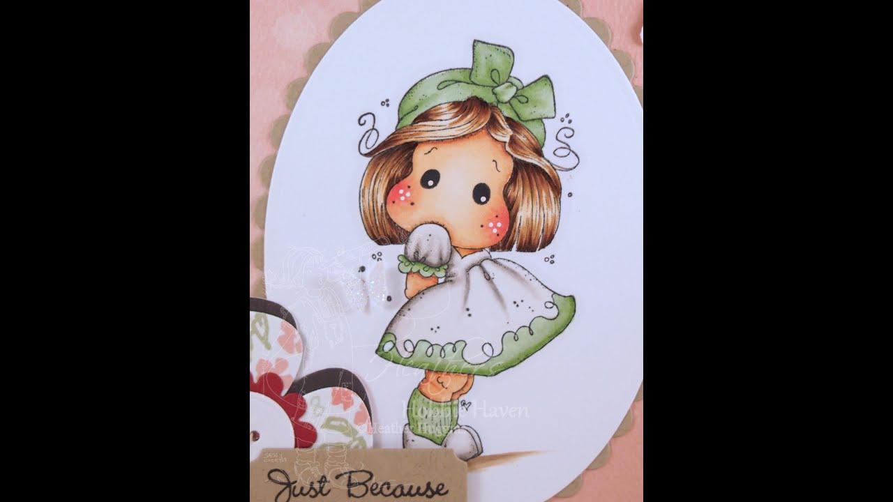 Tilda with Kneesocks Copic Coloring Card Kit - YouTube