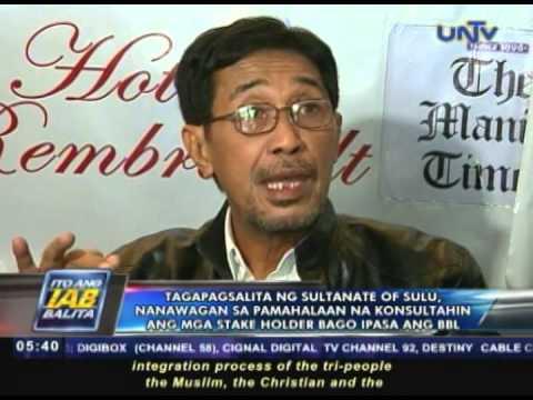 Sultanate of Sulu, nanawagan sa pamahalaan na konsultahin ang mga stake holder bago ipasa ang BBL