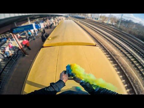 INSANE PARKOUR TRAIN SURFING MISSION IN BERLIN IN 4K | GoPro HERO5