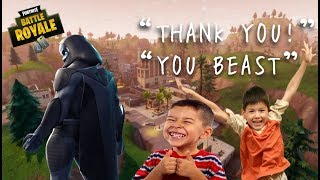 Fortnite: Kids Get Their FIRST WIN! (CRAZY REACTION and TROLLING)