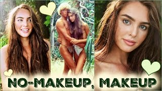 No-Makeup Makeup Tutorial! Brooke Shields | The Blue Lagoon Beach Hair & Makeup