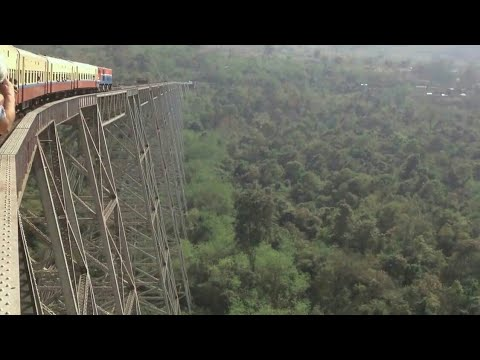 """The Gokteik Viaduct"" world's most scariest Myanmar Burma railway bridge 