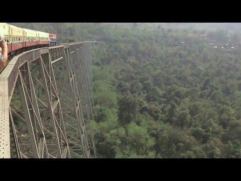 """The Gokteik Viaduct"" world's most scariest Myanmar Burma railway bridge | shock wave"