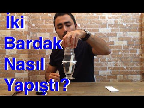 17.video - Hava Basıncı Deneyi , İki Bardak Nasıl Yapışır , Deney , Air Pressure Experiment