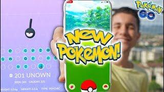 NEW POKÉMON RELEASED IN POKÉMON GO! + Catching MY FAVORITE UNOWN