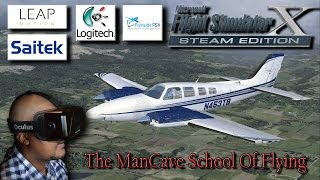Oculus Rift Leap Motion Fly Inside FSX The ManCave School Of Flying #1 My First Flight