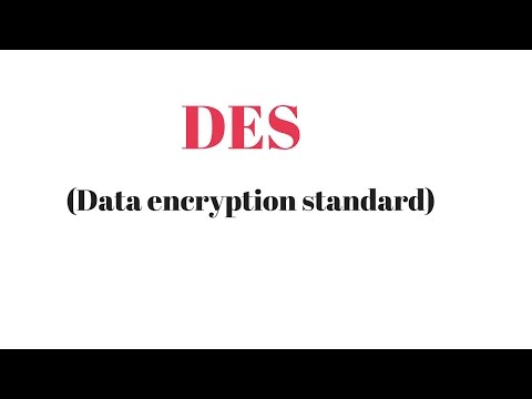 DES (data encryption standard algorithm)