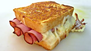 Grilled Ham & Cheese Sandwich - PoorMansGourmet