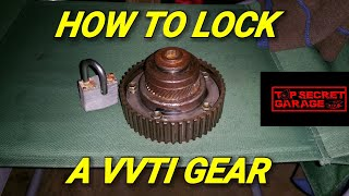 HOW TO LOCK A VVTI ON A 2JZ