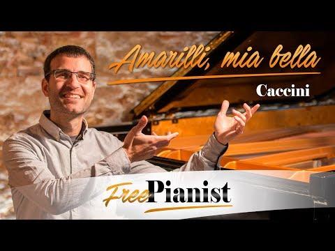 Amarilli, mia bella - G minor - KARAOKE / PIANO ACCOMPANIMENT - Caccini