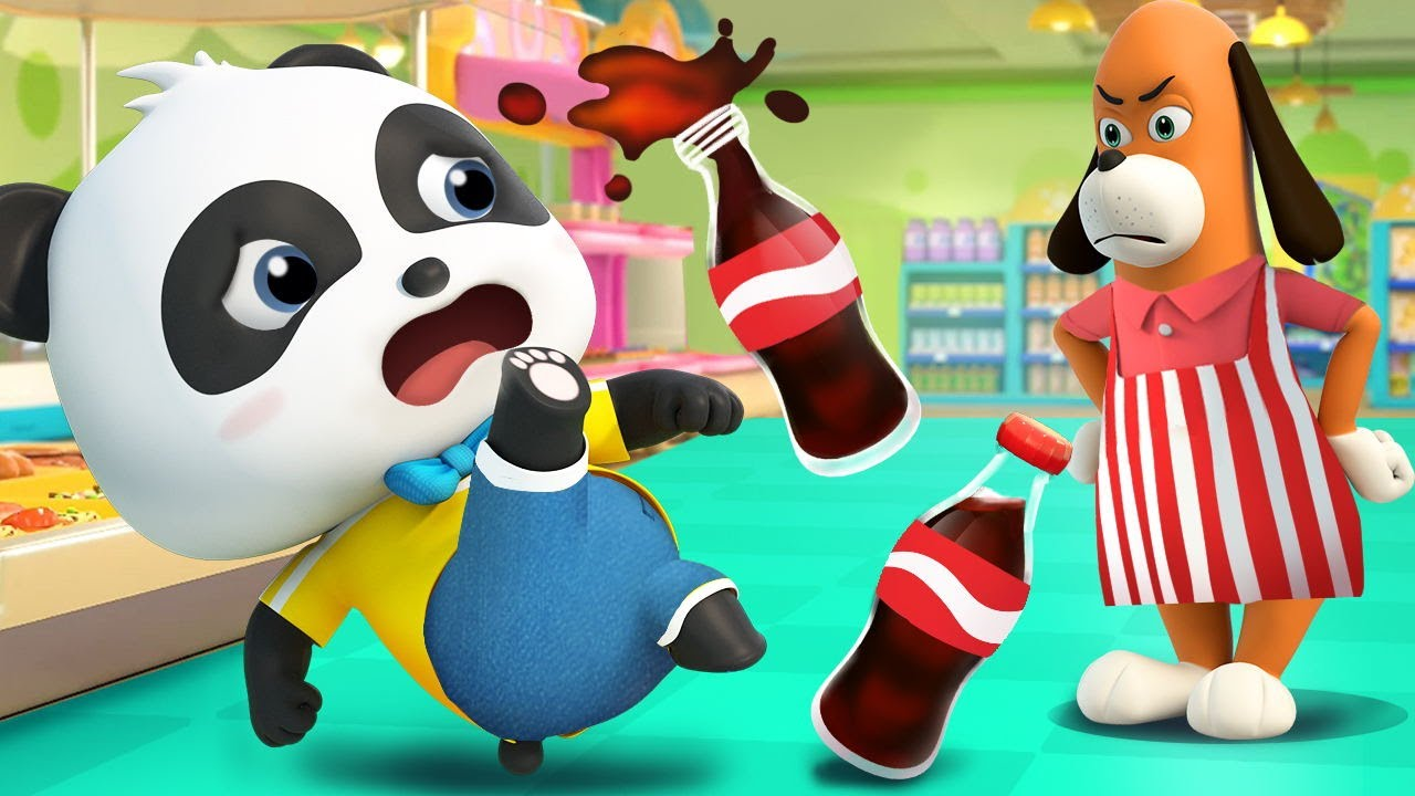 Panda Kiki Got A Free Cola Coupon Kids Cartoon Panda Cartoon For Kids Babybus Youtube