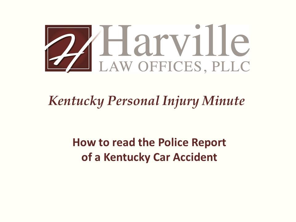 How to Read a Kentucky Car Accident Police Report
