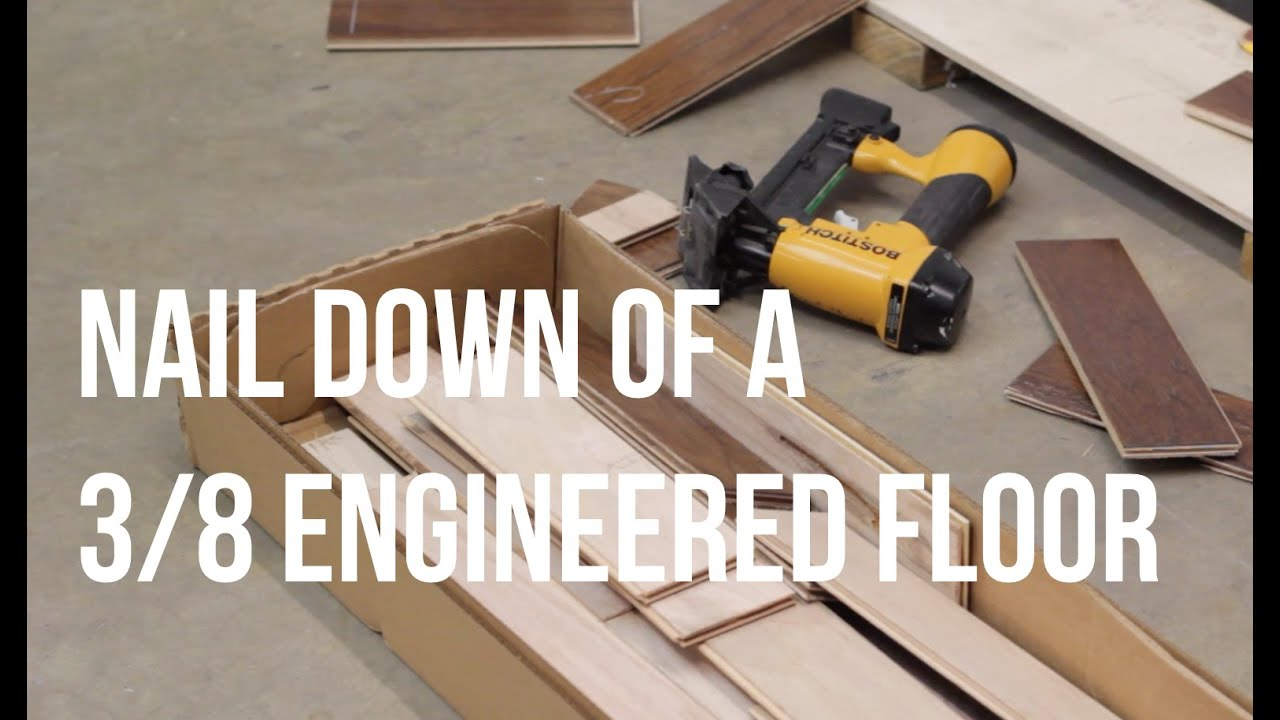 How to Nail Down of a three eighths engineered floor     How to Nail Down of a three eighths engineered floor  ReallyCheapFloors com  Install Series   YouTube