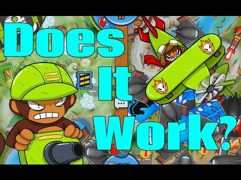 DOES IT WORK? Engineer + Monkey Ace - Bloons TD Battles High Level Gameplay!