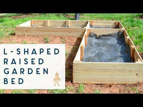 DIY L Shaped Raised Garden Beds