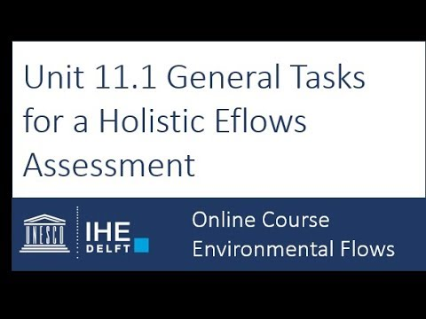 Unit 11.1 General Tasks in Holistic Approaches