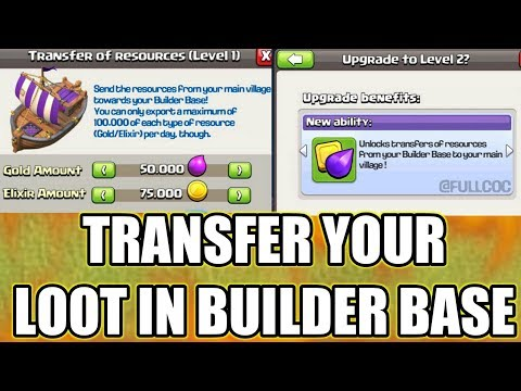 OMG😲TRANSFER YOUR MAIN BASE LOOT IN BUILDER BASE ; NEW UPDATE CONCEPT