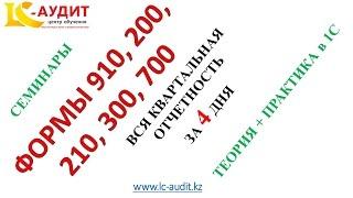 Налоговая отчетность квартальная. Формы 910 200 210 300 700. Видео запись семинаров в подарок.
