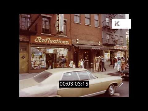 1970s Lower East Side Drive, Gritty New York, HD from 35mm