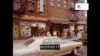 1970s Bleecker St and 6th Avenue, Gritty New York, HD from 35mm