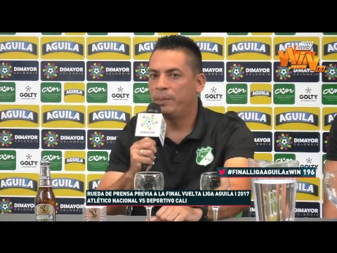Rueda de prensa de Deportivo Cali previo a la gran final