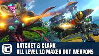 Ratchet & Clank PS4 - RYNO XTREME!!! All Maxed Out Weapons (Level 10)