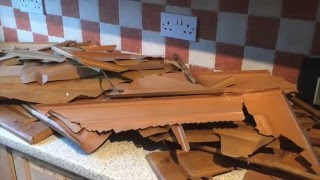 Peeling Laminate Kitchen Tired Old Handles Restored By Brushstrokes Painting Cork